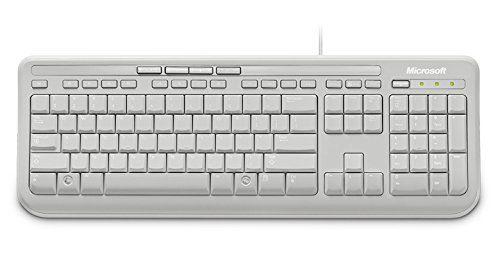 MICROSOFT Wired Keyboard 600 USB Port English International Europe White
