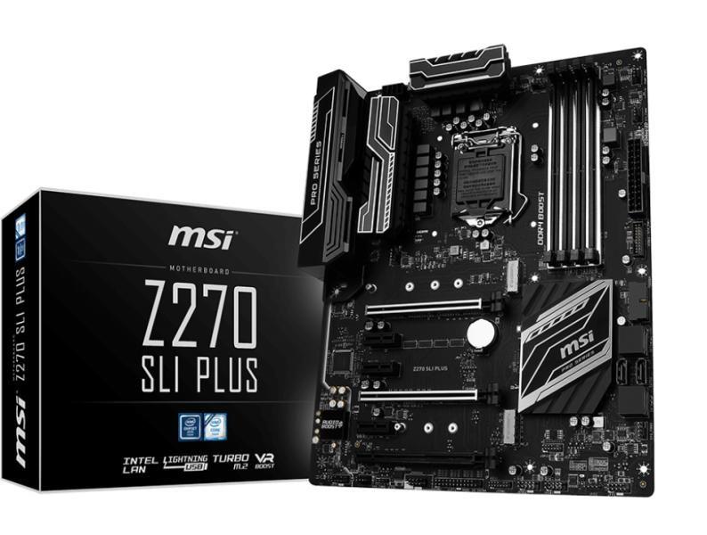 MSI Main Board Desktop Z270 (S1151, 4xDDR4, 2xPCIEx16,4xPCI-Ex1, USB3.1,USB2.0, SATA III,Raid,M.2, VGA,DVI,PD, GLAN) ATX Retail