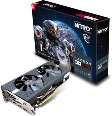 SAPPHIRE Video Card AMD Radeon NITRO+ RADEON RX 570 8G GDDR5 DUAL HDMI / DVI-D / DUAL DP W/BP (UEFI)