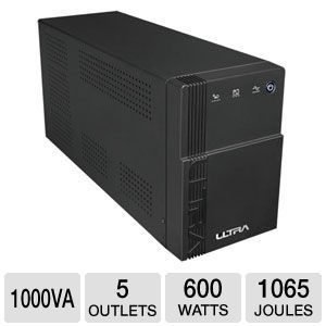 UPS 1000VA/600W,2 x battry 12V/7Ah, 4 x shoko input, LCD Display