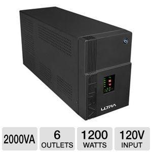 UPS 2000VA/1200W, 2 x battry 12V/9Ah, 4 x shoko input, LCD Display