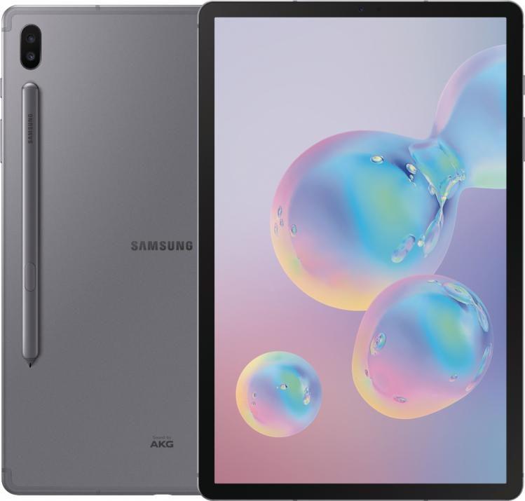 Tablet Samsung SM-Т865 GALAXY Tab S6, 10.5″ Super AMOLED, 128GB, LTE, Black + Samsung Galaxy Tab S6 Keyboard Cover