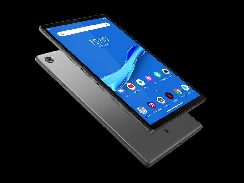 Lenovo Tab M10 Plus LTE WiFi GPS BT5.0, Helio 2.3GHz OctaCore, 10.1″ IPS 1920×1200, 4GB DDR4X, 64GB flash, 8MP AutoFocus + 5MP front, Nano SIM, MicroSD up to 256GB, USB-C, full-metal body, Android 9 Pie, Dolby Atmos, Iron Grey